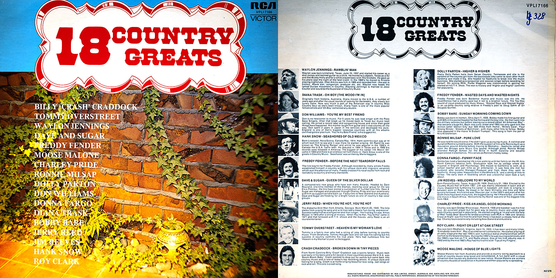 18 Country Greats - Don Williams / Dolly Parton / Roy Clark u. v. a. m.