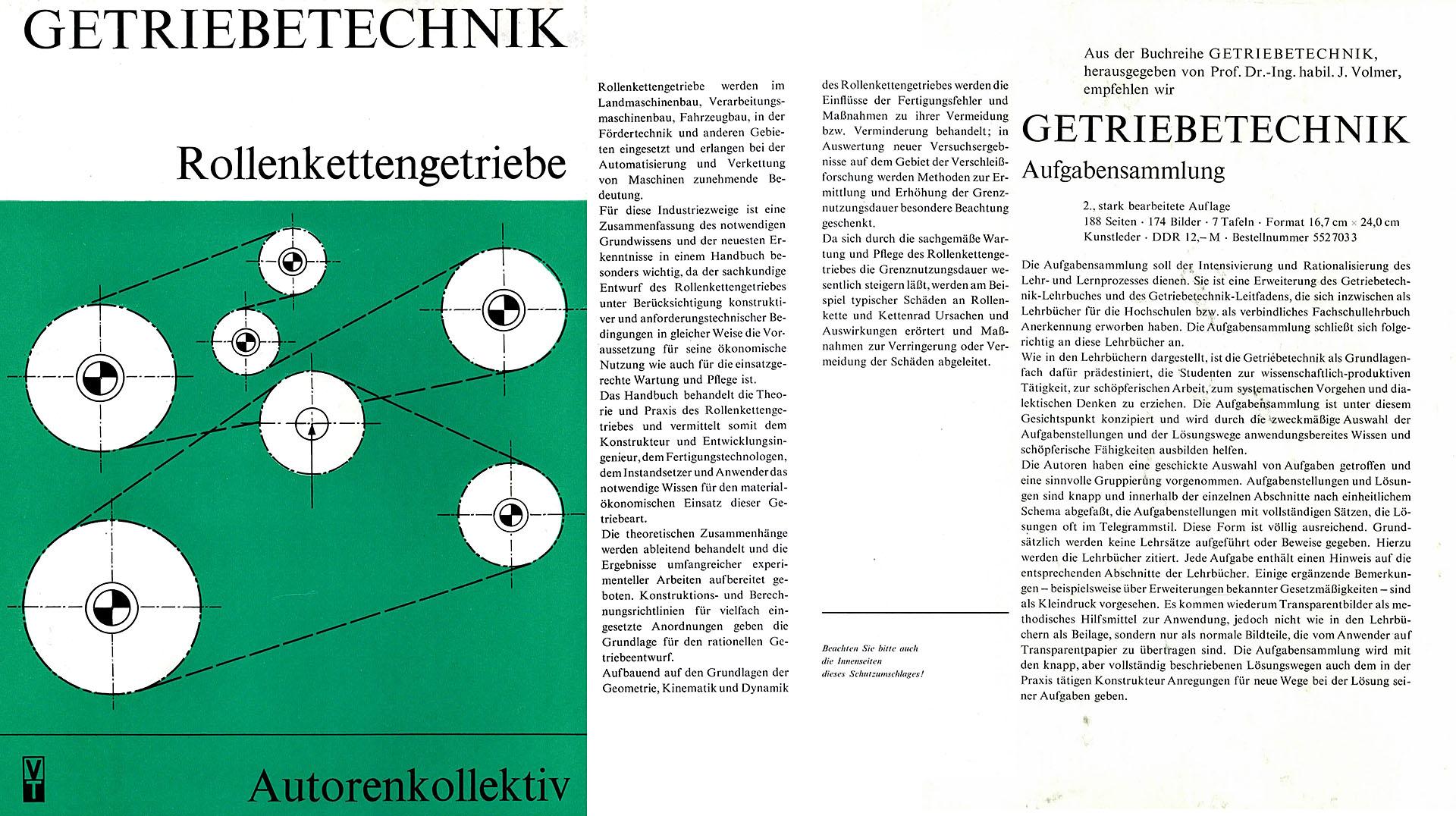 Getriebetechnik - Rollenkettengetriebe - Autorenkollektiv