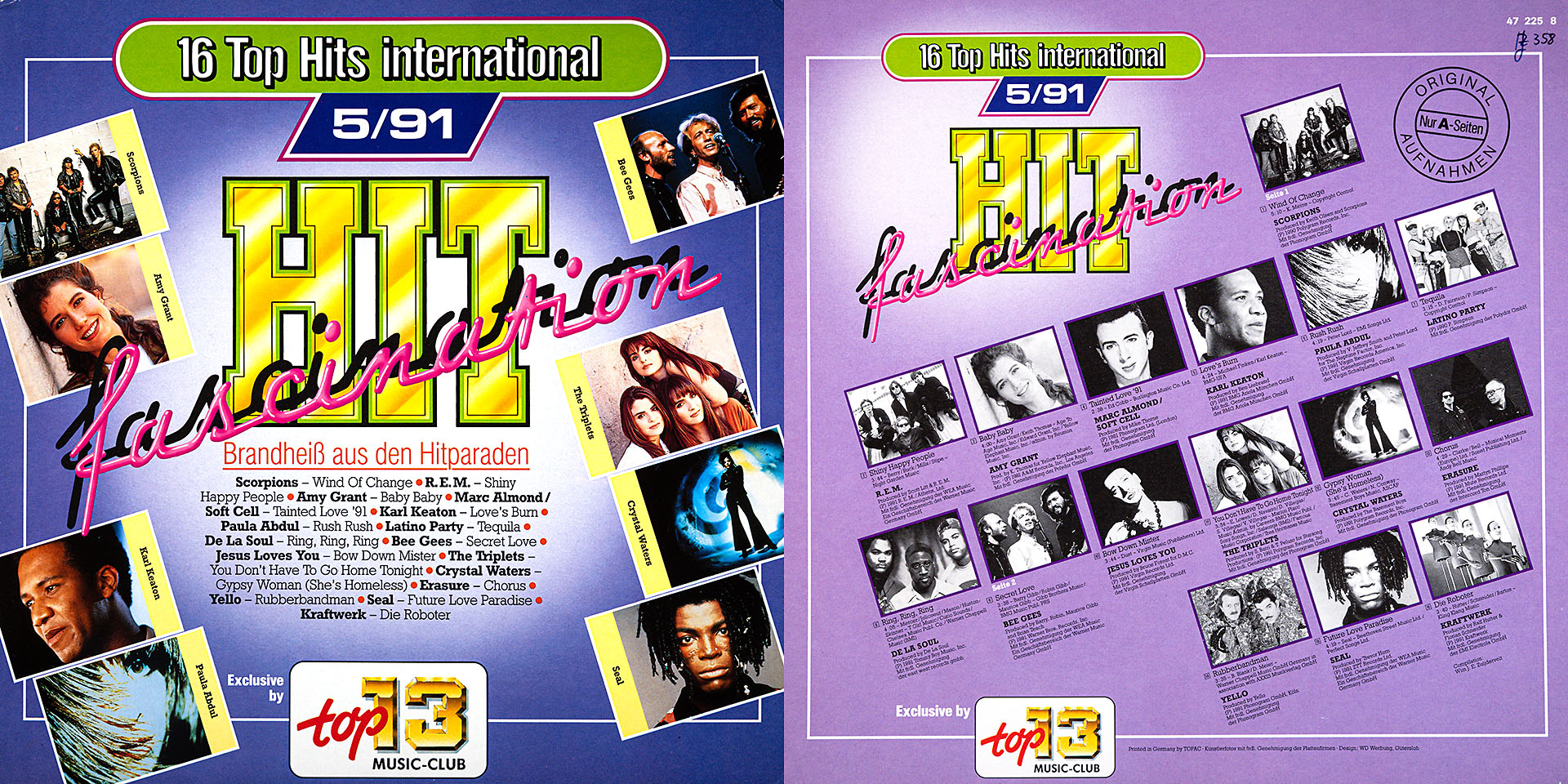 Hit fascination 5/91 - Scorpions / Marc Almond / Soft Cell / Bee Gees u. v. a. m.