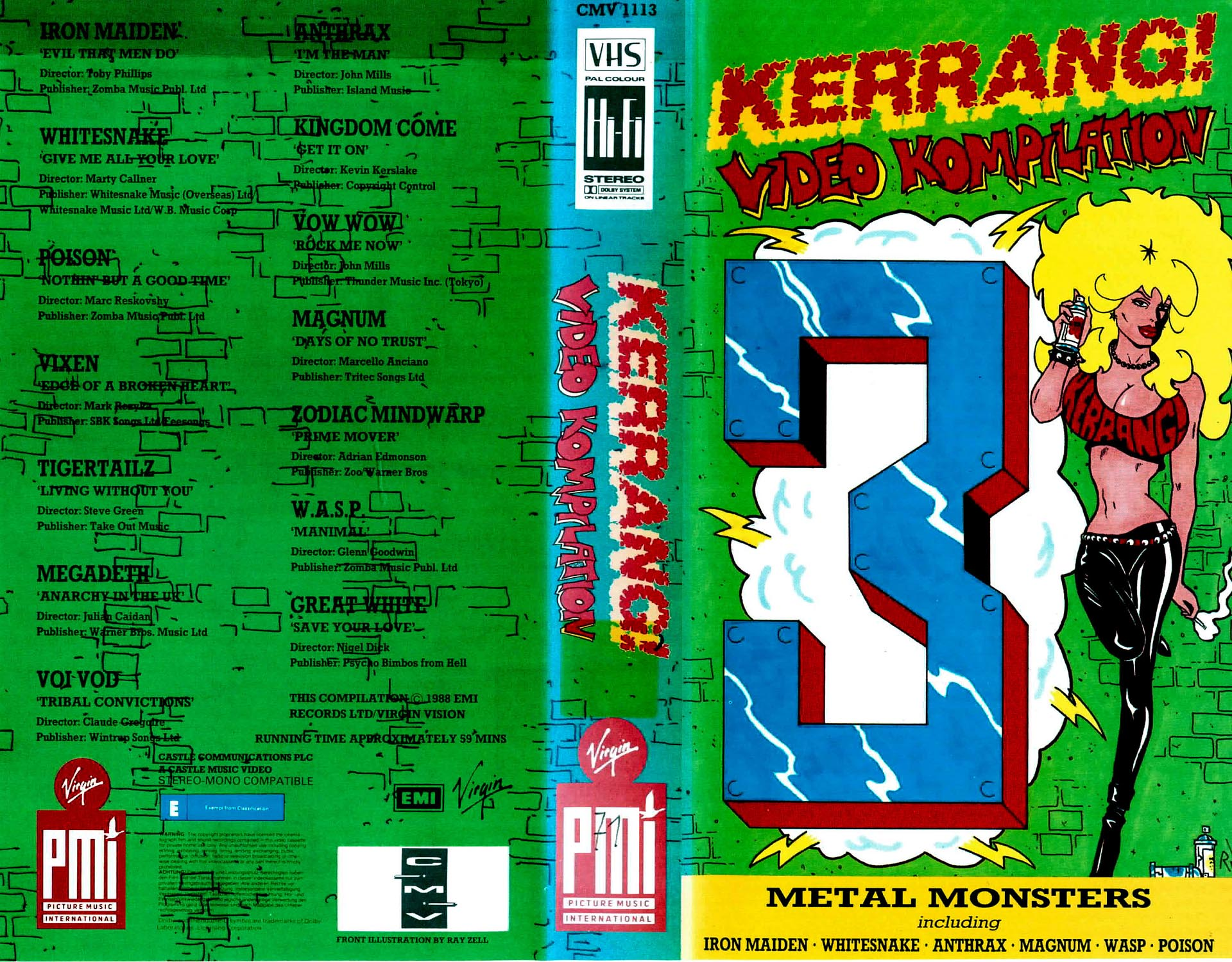 KERRANG! Video Kompilation Metal Monsters - Iron Maiden / Poison / Megadeth / W.A.S.P. u. v. a. m.