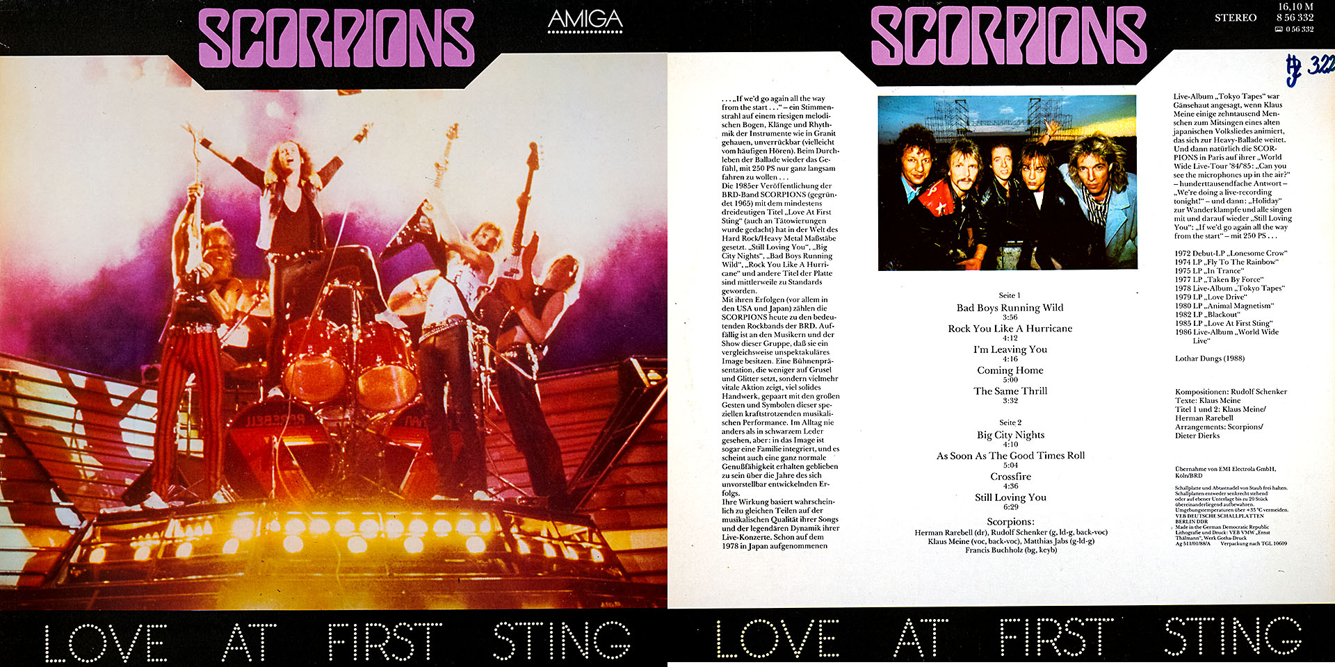 Love At First Sting - SCORPIONS