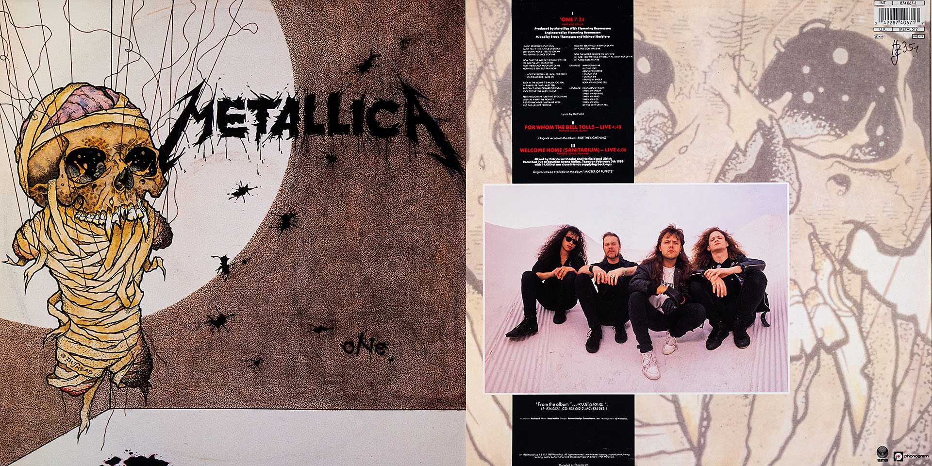 METALLICA - One - For The Bell Tolls - Welcome Home - METALLICA