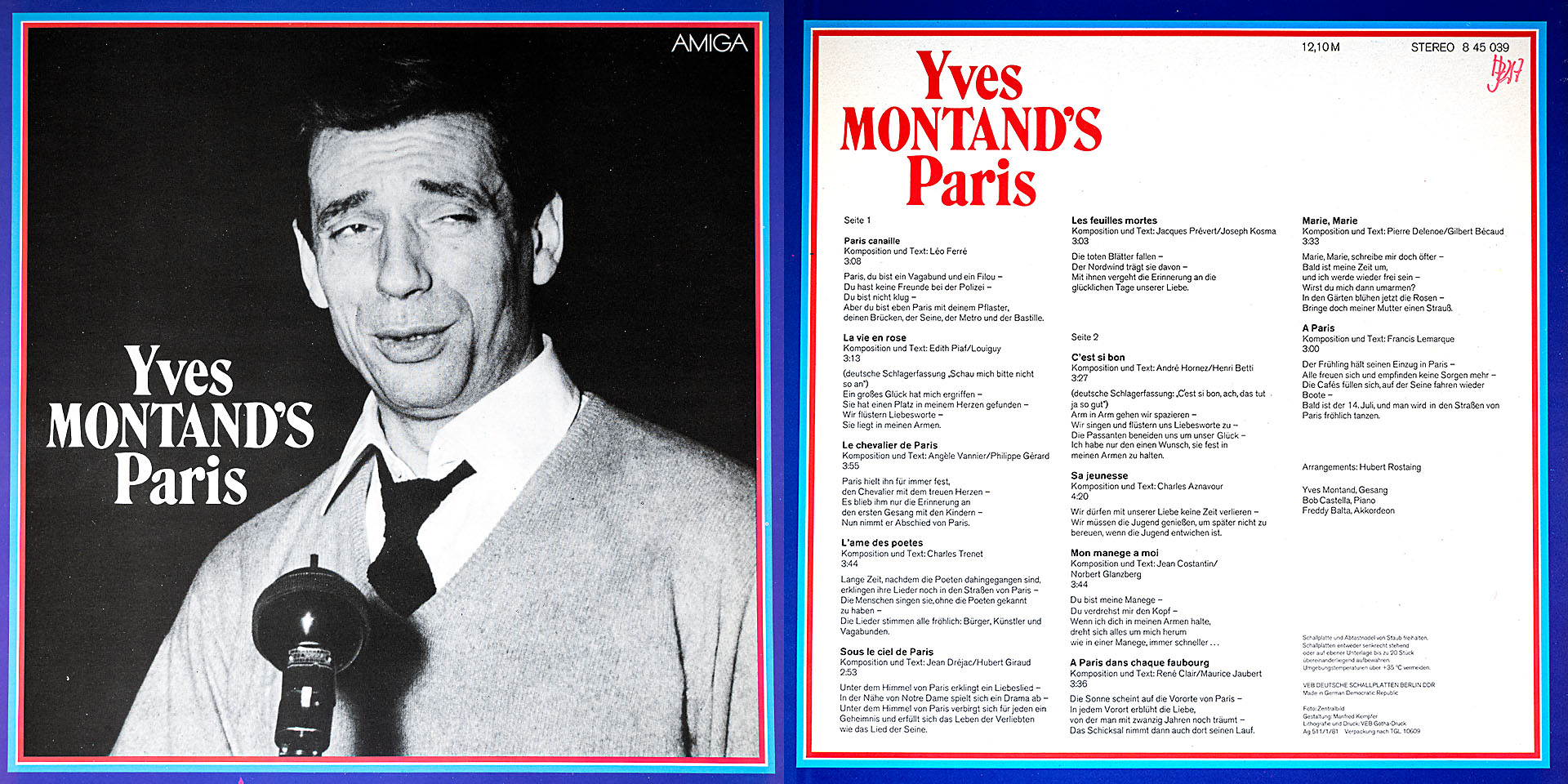 Paris - Yves Montand