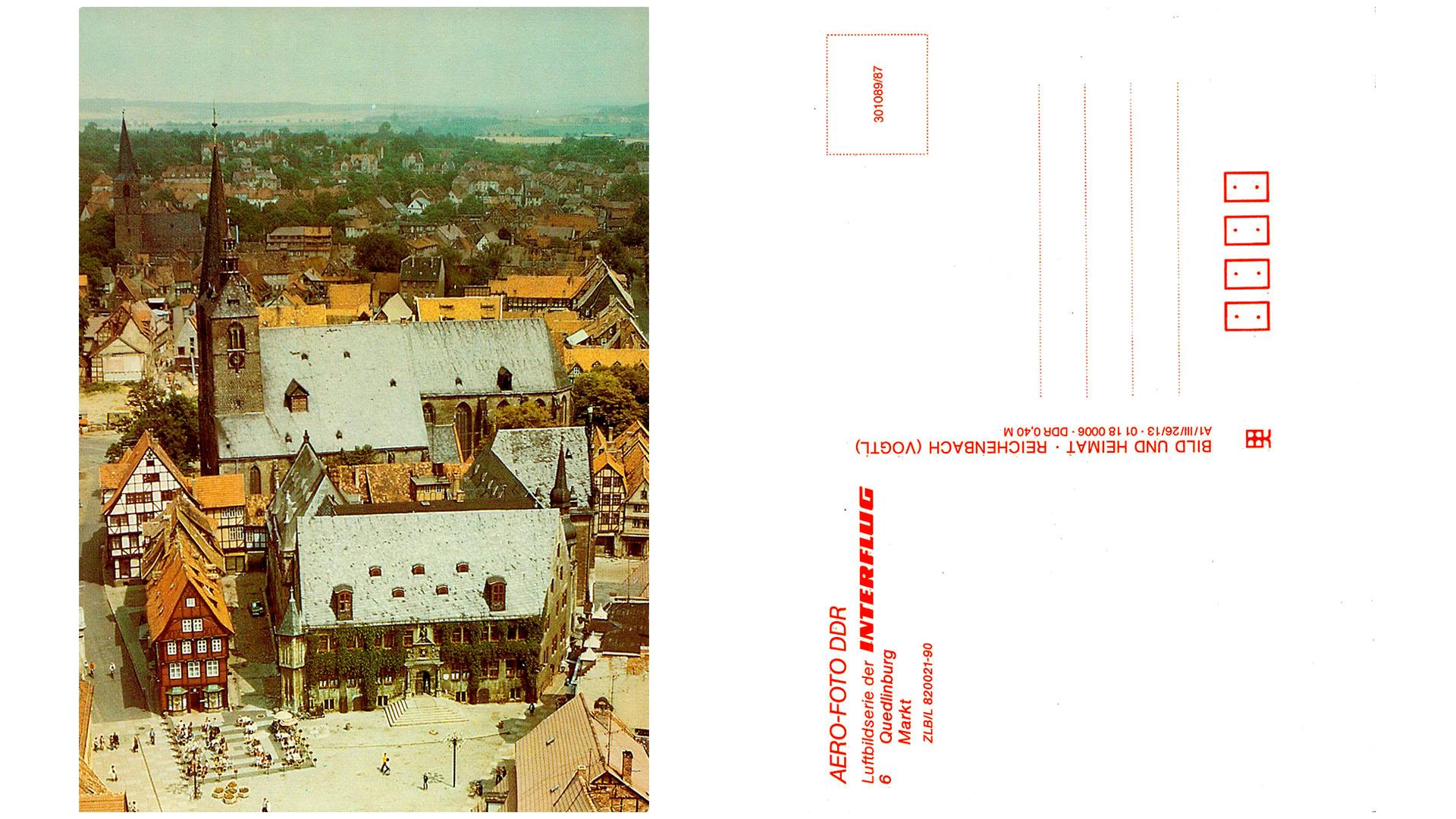 Quedlinburg - Markt - Luftbild