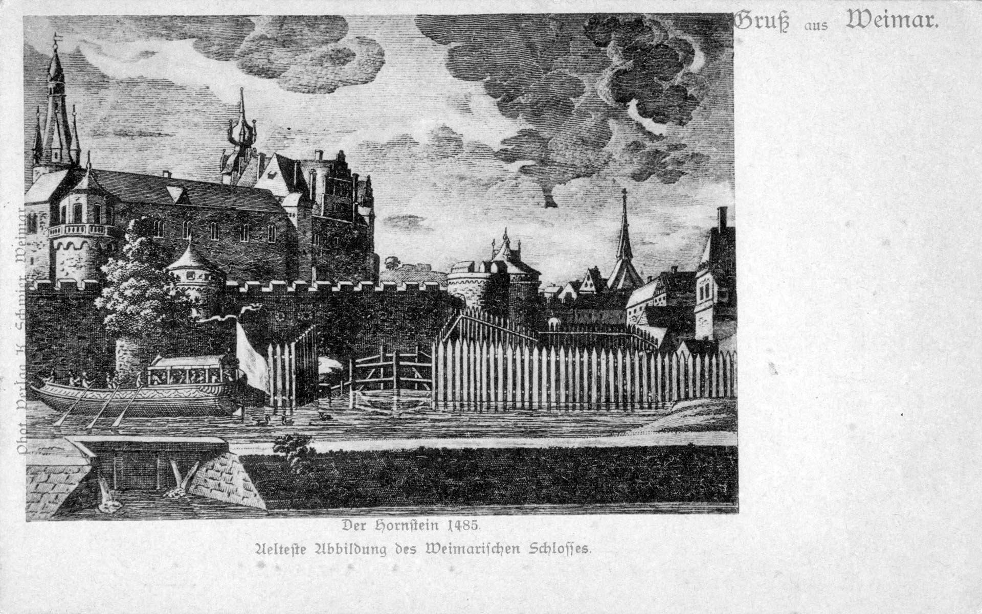 Der Hornstein 1485 - Älteste Abbildung des Weimarar Schlosses