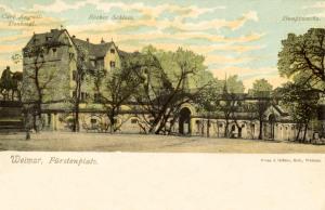 Carl-August-Denkmal und Rotes Schloss