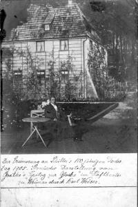 Zur Erinnerung an Schillers 100. Todestag - Gothe Gartenhaus