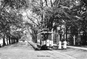 Straßenbahn auf der Belvederer Allee um 1903