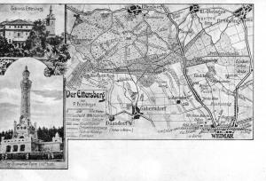 Bismarkturm, Schloss Ettersburg, Karte Ettersberg