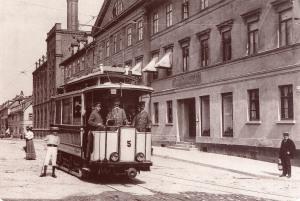 Straßenbahn um 1900