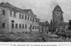 Sächsischer Hof Anfangs des 19. Jh.