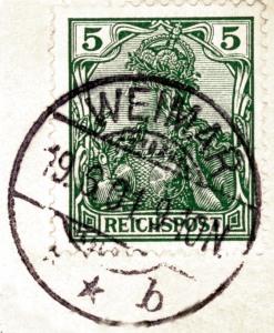 Briefmarken und Poststempel