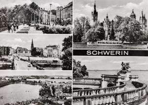 Pfaaffenteich, Alter Garten, Blick vom Dom auf Pfaffenteich und Ziegelsee, Schloss, Schweriner See