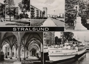 """Krankenaus, Heinrich-Heine-Straße, Schillerdenkmal, Katharinenkloster, MS """"Granitz"""""""