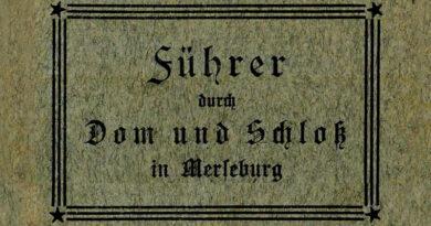 1930ca-Führer durch Dom und Schloss in Merseburg