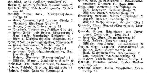 1939 - Merseburger Adressbuch