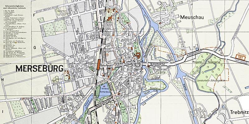 1960-Übersichtsplan von Merseburg