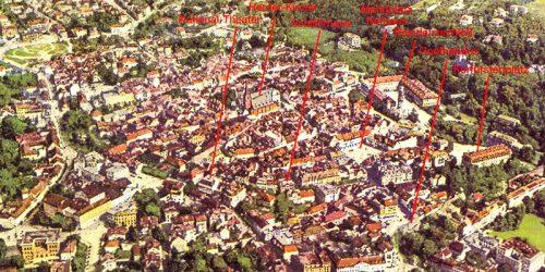 Sammlung alter Postkarten von Weimar