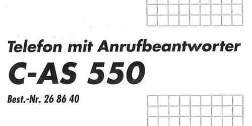 1993 - Bedienungsanleitung C-AS 550-Telefon mit Anrufbeantworter