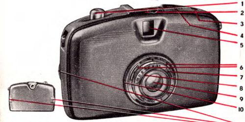 1959-Bedienungsanleitung der Kleinbildkamera PENTI<br> aus dem VEB Kamera und Kinowerk Dresden