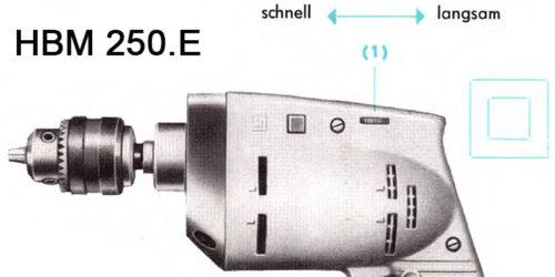 1971 Bedienungsanleitung HBM 250.E