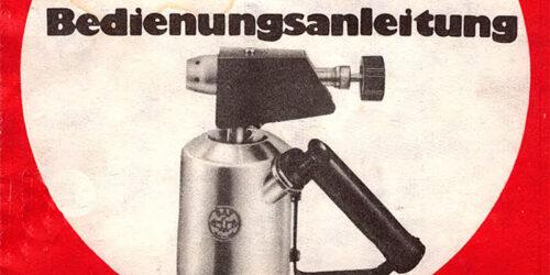 1980 - Bedienungsanleitung für ein BAT - Lötgerät