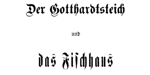 1925 (ca.) - Der Gotthardtsteich und das Fischhaus