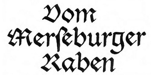 1988 - Vom Merseburger Raben