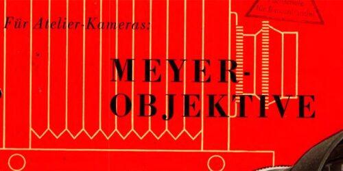 1952 - MEYER - Objektive für Atelier-Kameras