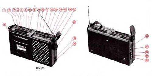 "1979 - Sercive - Anleitung Radio - Kassettenrecorder ""babett"" 21306.01"