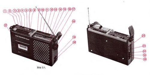 """1982 - Service - Anleitung Radio - Kassettenrecorder """"babett"""""""