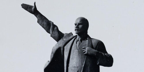 1971 - Das Lenin - Denkmal in Merseburg