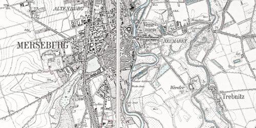 1925 - Umgebungskarte Merseburg