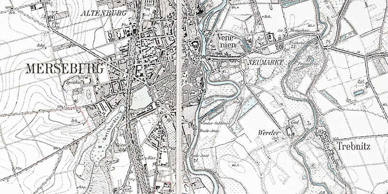 1925-Umgebungskarte Merseburg