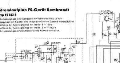 1953-Stromlaufplan FS-Gerät Rembrandt Typ FE 852 E-SW