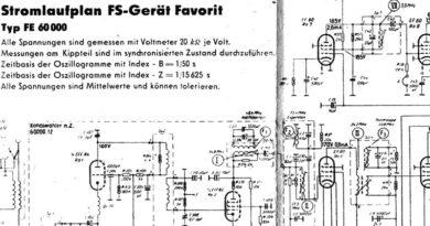 1955-Stromlaufplan FS-Gerät FavoritTyp FE 60 000