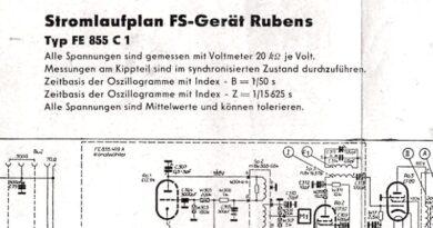 1956-Stromlaufplan FS-Gerät Rubens Typ FE 855 C1