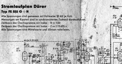 1957-Stromlaufplan FS-Gerät Dürer Typ FE 855 G + H