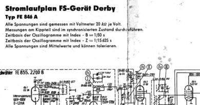 1958-Stromlaufplan FS-Gerät Derby Typ FE 846 A