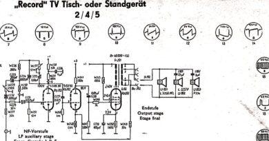 1958-TV Tisch- oder Standgerät Record