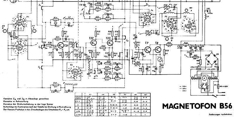 1973-Schaltplan Tonbandgerät B56