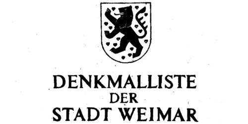 1981 - Denkmalliste der Stadt Weimar