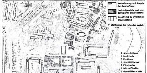 1982 - Merseburg - Umgestaltung des Stadtzentrums