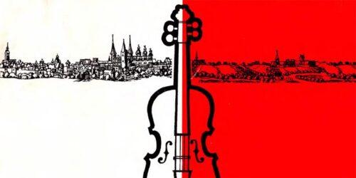1984 - 35 Jahre DDR - Programm der festlichen Veranstaltungen anläßlich der Gründung der Musikschule Merseburg vor 35 Jahren