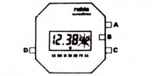 1984 - LCD Quarz - Herrenarmbanduhr