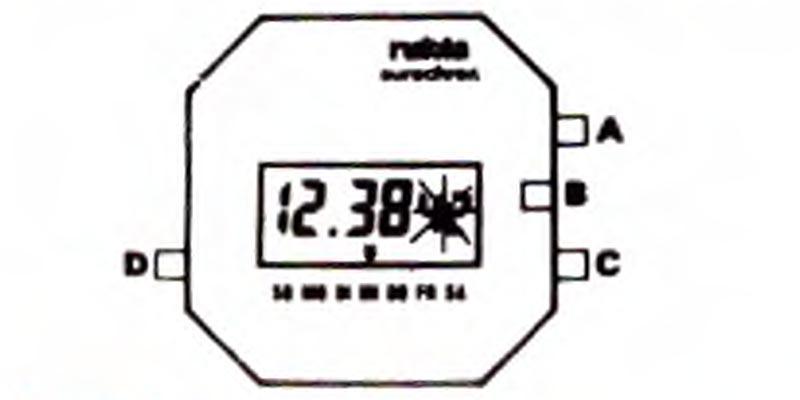 1984-LCD Quarz-Herrenarmbanduhr