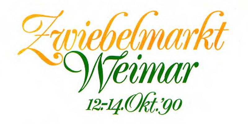 1990-Zwiebelmarkt in Weimar