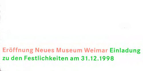 1998 - Einladung Silvesterparty Neues Museum