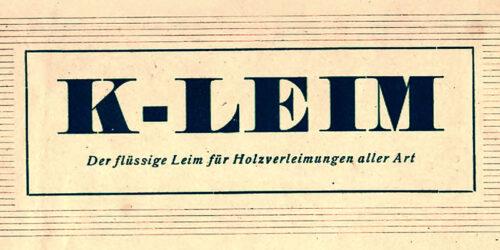 1950 - Chemiewerk Leuna - K-Leim