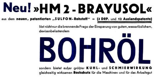 1950 - HEMÜPAL - Brayusol Bohröl